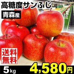 りんご 青森産 高糖度サンふじ 5kg センサー選果 林檎 果物 国華園