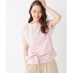 ピンクアドベ サイドリボンデザインプルオーバー レディース レッド(362) 40(L) 【pink adobe】