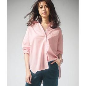 Ranan 襟抜きオーバーサイズシャツブラウス(ピンク)