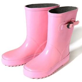 デビロック キッズラバーレインブーツ 長靴 雨靴 ユニセックス ピンク 23.0 【devirock】