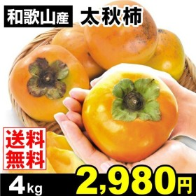 柿 かき 和歌山産 太秋柿 4kg 果物 食品 国華園