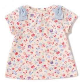 センス オブ ワンダー/オーガニックコットン フラワーガーデンプリント半袖Tシャツ