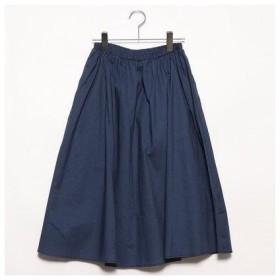 セブンデイズ サンデイ  SEVENDAYS=SUNDAY outlet コットンブロード カラーギャザースカート (ネイビー)