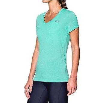 (セール)UNDER ARMOUR(アンダーアーマー)レディーススポーツウェア Tシャツ UA THREADBORNE TRAIN SSV TWIST 1289650 レディース ABSINTHE GREEN/GRAP...