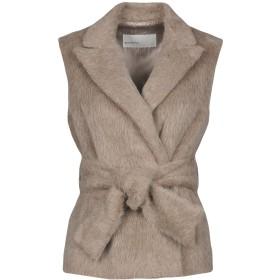 《期間限定 セール開催中》GENTRYPORTOFINO レディース コート カーキ 40 80% 毛(アルパカ) 20% バージンウール 羊革(ラムスキン)