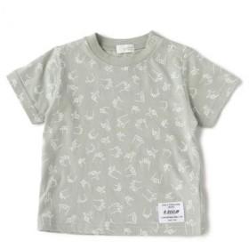 ビー・ルーム/フィンガープリント総柄Tシャツ