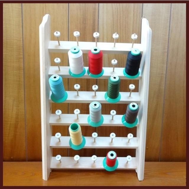 ◆D30【手作り】ミシン大巻き糸&小巻糸●30個収納糸立て《吊りカン付》