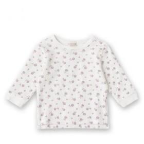プティマイン/花柄ワッフルTシャツ