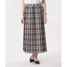 【PLST】シアーチェックプリーツスカート