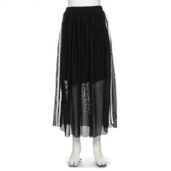 ラブトキシック/ペチコートつきメッシュラインロングスカート