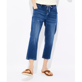 BACK NUMBER 「タテヨコ伸びる」デニムクロップドパンツ メンズ 中濃加工色