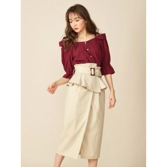 タイトスカート - MIIA コルセットベルト付きタイトスカート