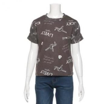 バイ ラビット/ロゴ柄Tシャツ