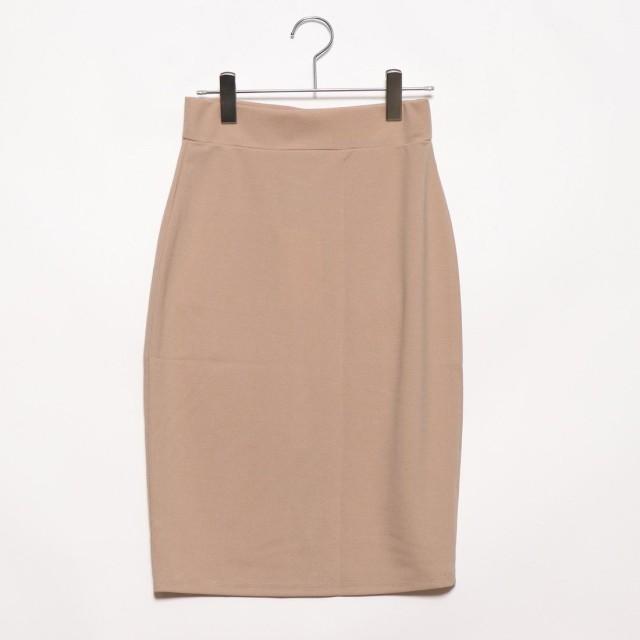 フューティアランド Futier Land バックポケット付きストレッチタイトスカート (ベージュ)