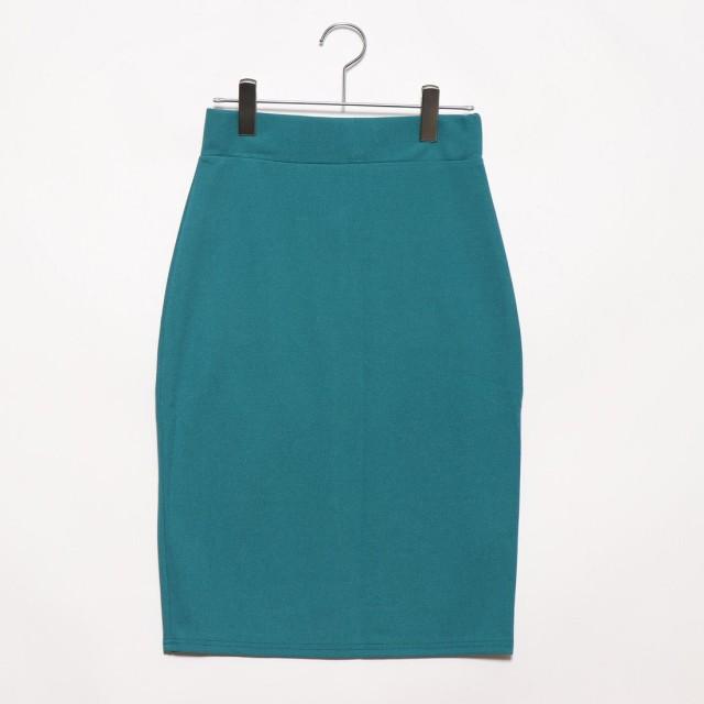 フューティアランド Futier Land バックポケット付きストレッチタイトスカート (グリーン)