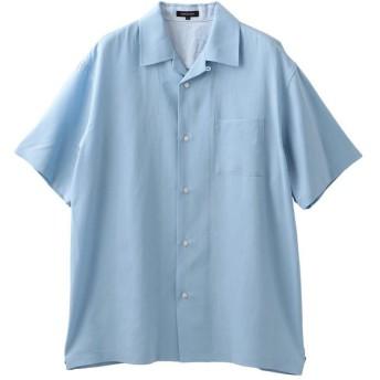 ラブレス MEN はっ水オープンカラーシャツ メンズ サックスブルー3 2 【LOVELESS】