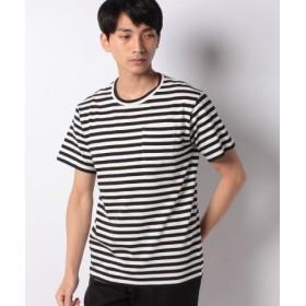 (koe/コエ)オーガニックコットンボーダーTシャツ/メンズ ブラック