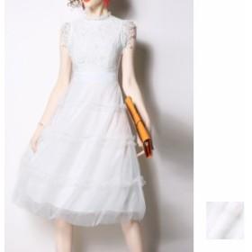 韓国 ファッション レディース ワンピース パーティードレス 結婚式 お呼ばれドレス お呼ばれワンピース ひざ丈 ミディアム 夏 春 パーテ