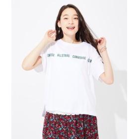CONVERSE ロゴラインプリントTシャツ レディース オフシロ