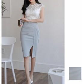 韓国 ファッション レディース パーティードレス 結婚式 お呼ばれドレス セットアップ 夏 春 パーティー ブライダル naloF013 バックコン