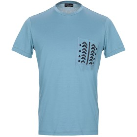 《セール開催中》GIORGIO ARMANI メンズ T シャツ パステルブルー 54 コットン 100%