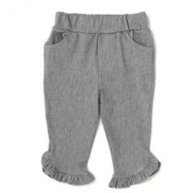 プティマイン/裾フリル七分丈パンツ