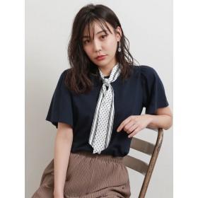 カットソー - Green Parks ・スカーフ付フレアスリーブTシャツ