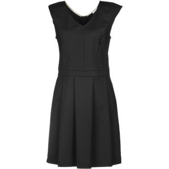 《セール開催中》PATRIZIA PEPE レディース ミニワンピース&ドレス ブラック 44 48% コットン 45% ナイロン 7% ポリウレタン