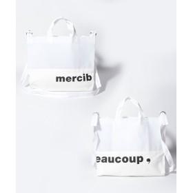 メルシーボークー、 メルシーボークー、 / メルビニトート / バッグ レディース ホワイト F 【mercibeaucoup、】