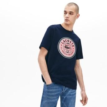 『LACOSTE L!VE』サークルロゴプリントTシャツ
