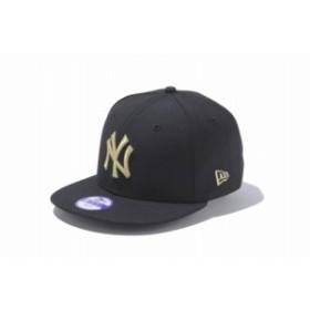 ニューエラ(NEW ERA) Youth 9FIFTY ニューヨーク・ヤンキース ブラック × ゴールド 11308488