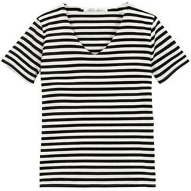 コウベレタス KOBE LETTUCE 前身二重半袖Tシャツ【Vネック】 (ボーダー)