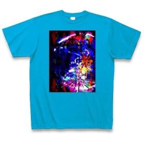 有効的異常症候群行動◆アート文字◆ロゴ◆ヘビーウェイト◆半袖◆Tシャツ◆ターコイズ◆各サイズ選択可