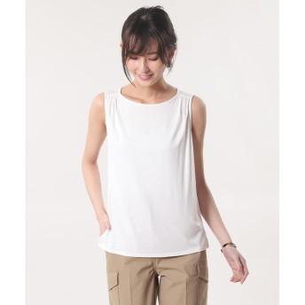 【PLST】モダールストレッチノースリーブTシャツ