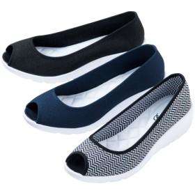【格安-女性靴】レディース超軽量オープントゥカジュアルシューズ