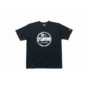【ニューエラ公式】 パフォーマンス Tシャツ ボタニカル バイザーステッカー ブラック × ホワイトボタニカル メンズ レディース Medium 半袖 Tシャツ 11901340 NEW ERA
