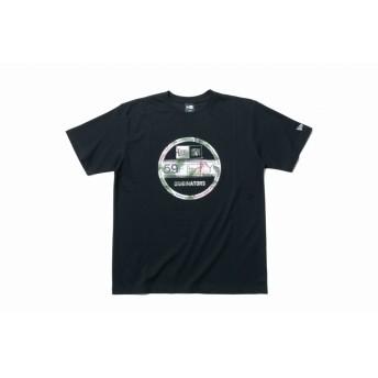 パフォーマンス Tシャツ ボタニカル バイザーステッカー ブラック × ホワイトボタニカル