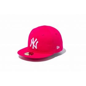 NEW ERA ニューエラ キッズ My 1st 59FIFTY ニューヨーク・ヤンキース ブライトローズ × ホワイト ベースボールキャップ キャップ 帽子 男の子 女の子 6 (48.3cm) 11596305 NEWERA