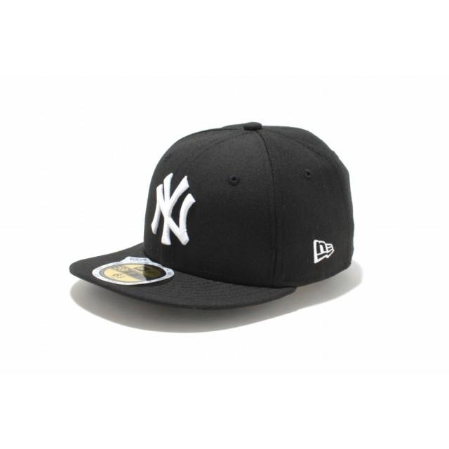 【ニューエラ公式】キッズ 59FIFTY ニューヨーク・ヤンキース ブラック × ホワイト 男の子 女の子 6 1/2 (52cm) MLB キャップ 帽子 11310406 NEW ERA