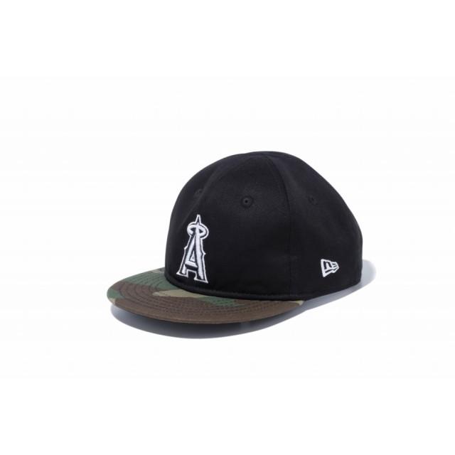 【ニューエラ公式】 My 1st 9FIFTY MLB カスタム ロサンゼルス・エンゼルス ブラック ウットランドカモバイザー 男の子 女の子 48.3 - 50.1cm MLB キャップ 帽子 12048670 NEW ERA