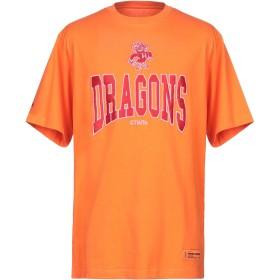 《9/20まで! 限定セール開催中》HERON PRESTON メンズ T シャツ オレンジ XXS コットン 100% / ポリエステル