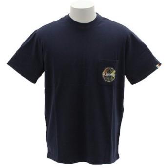 クリフメイヤー(KRIFF MAYER) ブランドロゴ 半袖Tシャツ 1757206-4-NVY (Men's)