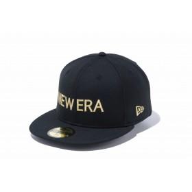 【ニューエラ公式】 59FIFTY NEW ERA ブラック × ゴールド メンズ レディース 7 (55.8cm) キャップ 帽子 12037939 NEW ERA