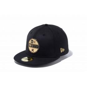 【ニューエラ公式】 59FIFTY NPB バイザーステッカー 千葉ロッテマリーンズ ブラック × ゴールド メンズ レディース 7 1/2 (59.6cm) NPB キャップ 帽子 11901325 NEW ERA