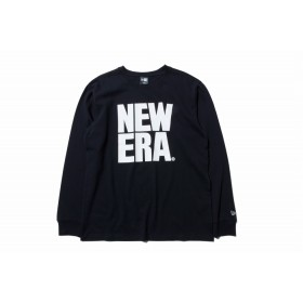 【ニューエラ公式】 長袖 コットン Tシャツ ビッグニューエラ ブラック × ホワイト メンズ レディース Large 長袖 Tシャツ 11783093 NEW ERA