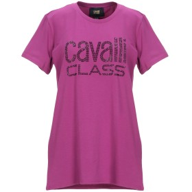 《セール開催中》CAVALLI CLASS レディース T シャツ パープル XS コットン 94% / ポリウレタン 6%