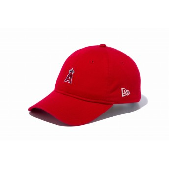 NEW ERA ニューエラ 9TWENTY クロスストラップ ロサンゼルス・エンゼルス ミニロゴ スカーレット × チームカラー アジャスタブル サイズ調整可能 ローキャップ ベースボールキャップ キャップ 帽子 メンズ レディース 56.8 - 60.6cm 11785653 NEWERA