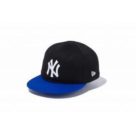 【ニューエラ公式】キッズ My 1st 9FIFTY ニューヨーク・ヤンキース ブラック × ホワイト ブライトロイヤルバイザー 男の子 女の子 48.3 - 50.1cm MLB キャップ 帽子 11433920 NEW ERA