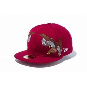 【ニューエラ公式】 59FIFTY 石川真澄 Masumi Ishikawa 鷹 カーディナル メンズ レディース 7 (55.8cm) キャップ 帽子 11909222 コラボ NEW ERA