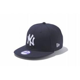 【ニューエラ公式】キッズ 9FIFTY ニューヨーク・ヤンキース ネイビー × ホワイト 男の子 女の子 52 - 55.8cm MLB キャップ 帽子 11308483 NEW ERA